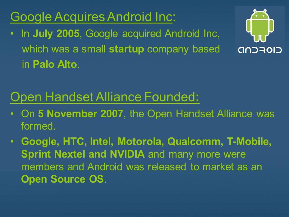 Google Acquires Android Inc: