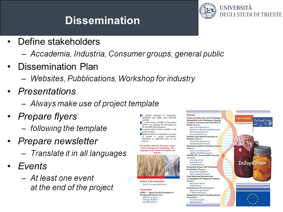 Tim r l fry school of economics finance marketing for Dissemination plan template