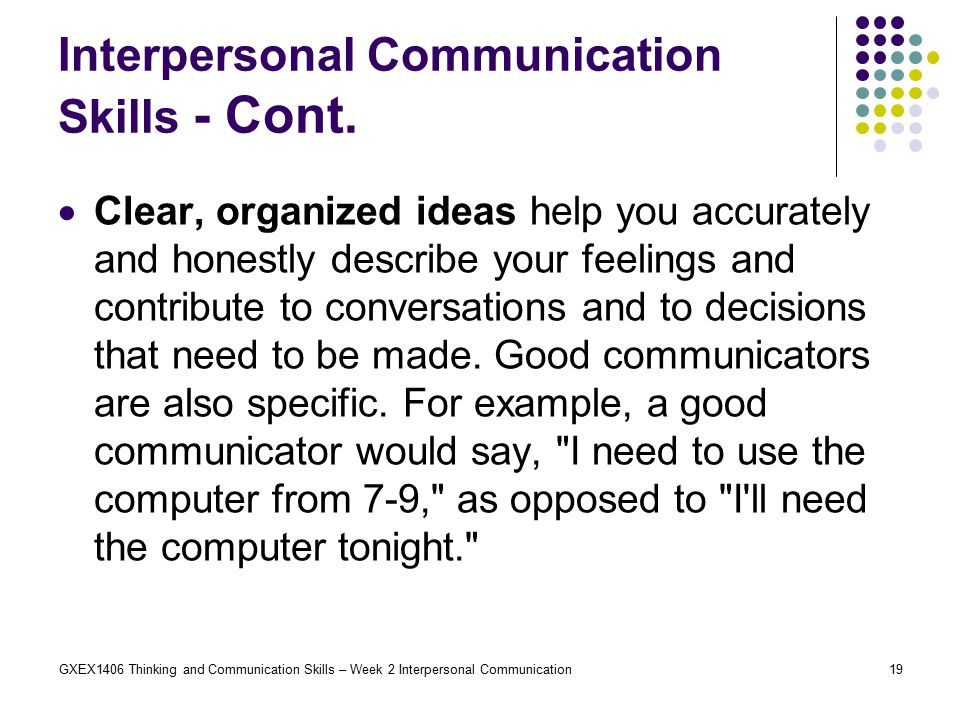 "com 200 interpersonal communication week 2 Com 691i: the ""dark side"" of interpersonal communication  office hrs: tu 1:15  to 2:00pm th 9:30 to 10:30am and by appointment  discussion questions for  each week will be posted on blackboard by noon on friday to help facilitate   state-of-the-art literature review------------------------------------------------ 200 pts."