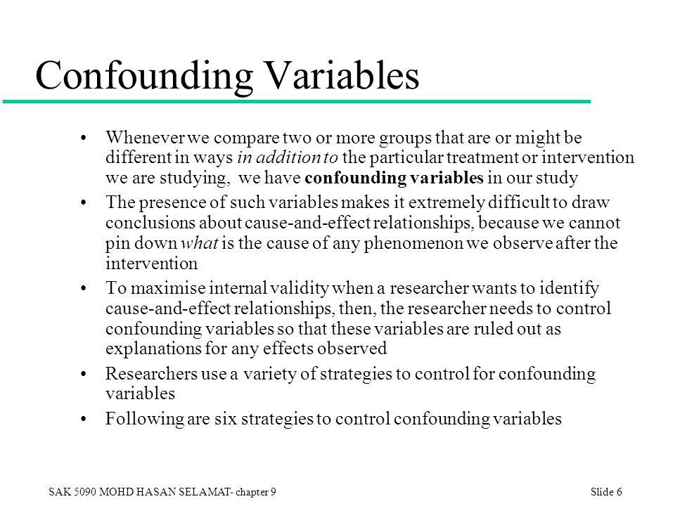 Internal validity of a study