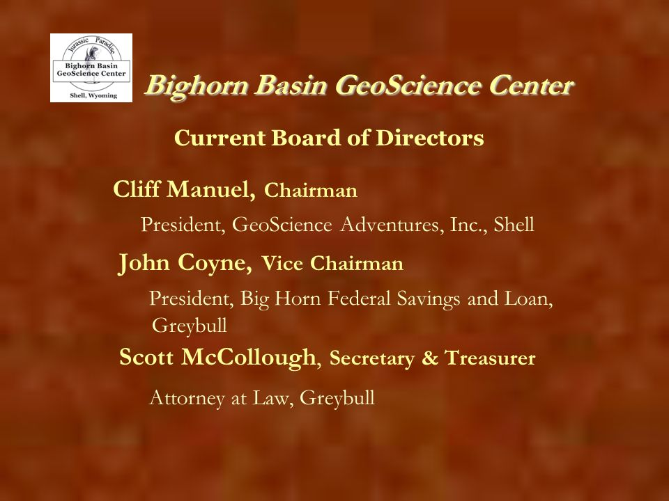 Bighorn Basin GeoScience Center