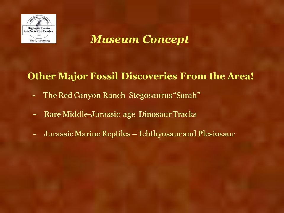Other Major Fossil Discoveries From the Area!