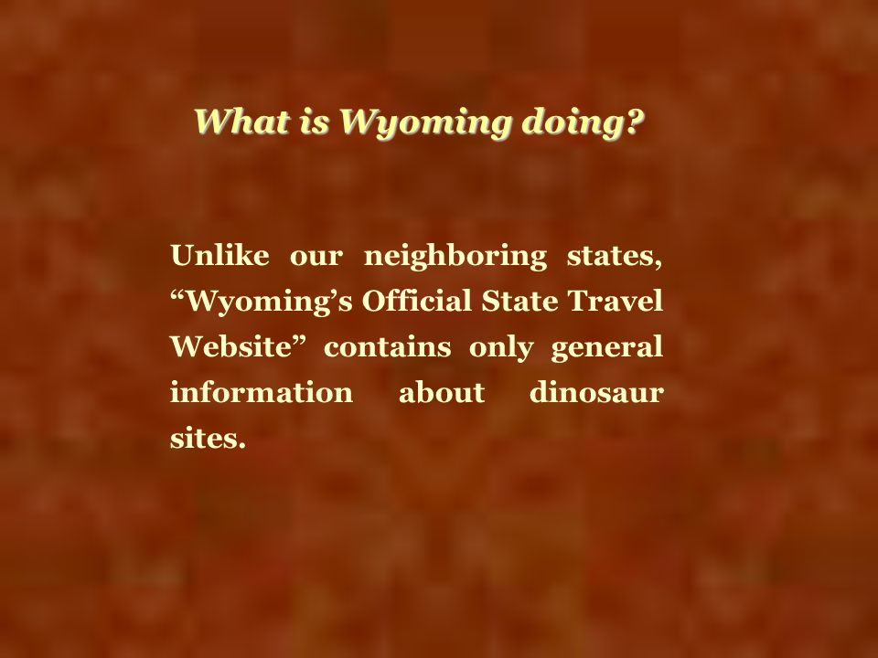 What is Wyoming doing