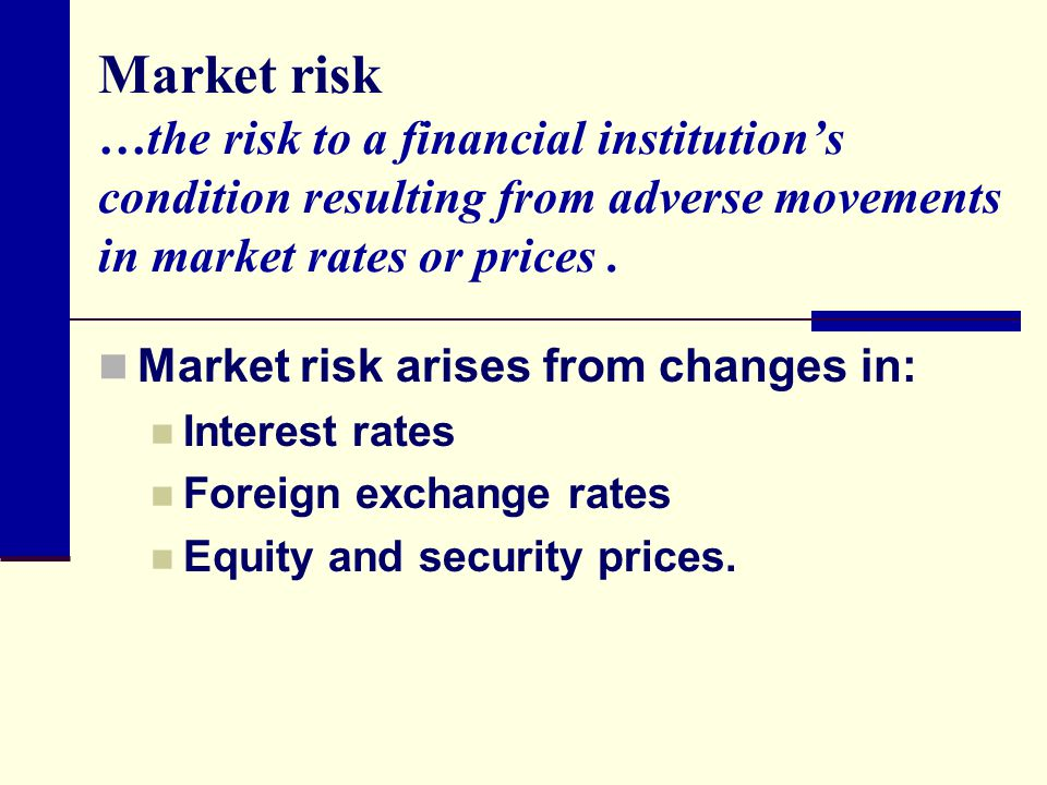 Interest rate risk in forex market