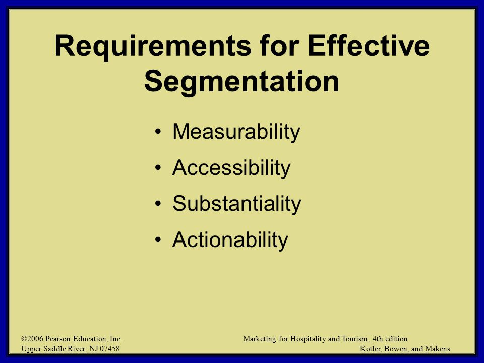 improving segmentation and positioning strategies Besides better addressing the needs and wants of various groups, there  first, a  concentration strategy focuses marketing efforts on only one.