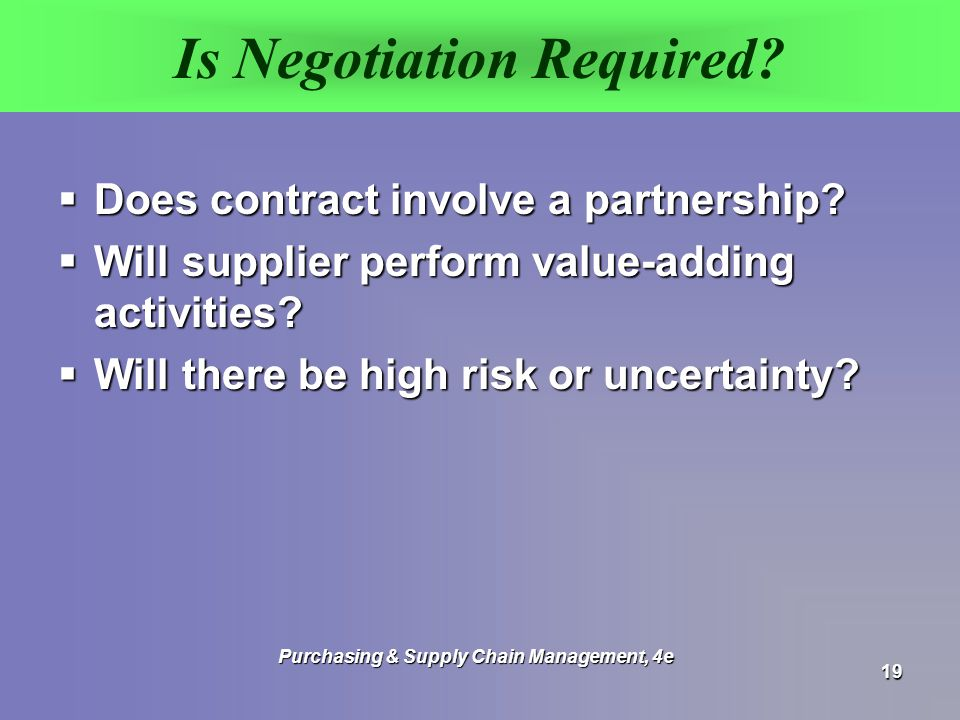 Is Negotiation Required