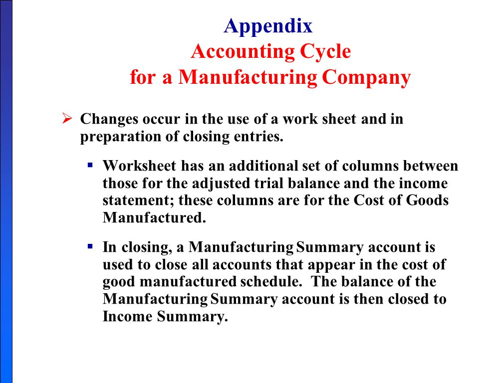 cost accounting cycle of manufacturing organization Join jim stice for an in-depth discussion in this video cost flows in manufacturing organizations, part of accounting foundations: managerial accounting helps managers make decisions using an organization's financial data.