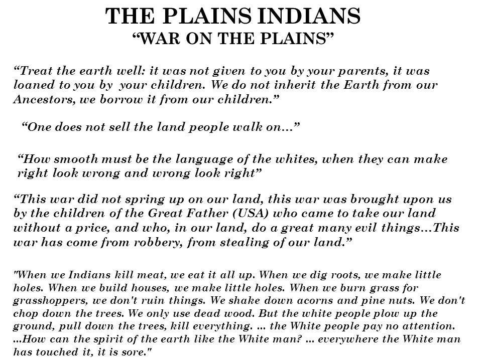 plains indians essay example Similarities and differences between african and native americans this is not an example of the work written by our such as the great plains indians.
