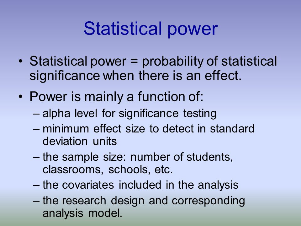 Abstractpower analysis statistical significance effect size