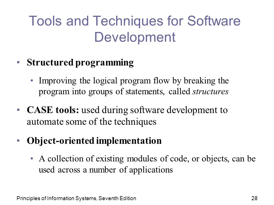 Tools and Techniques for Software Development