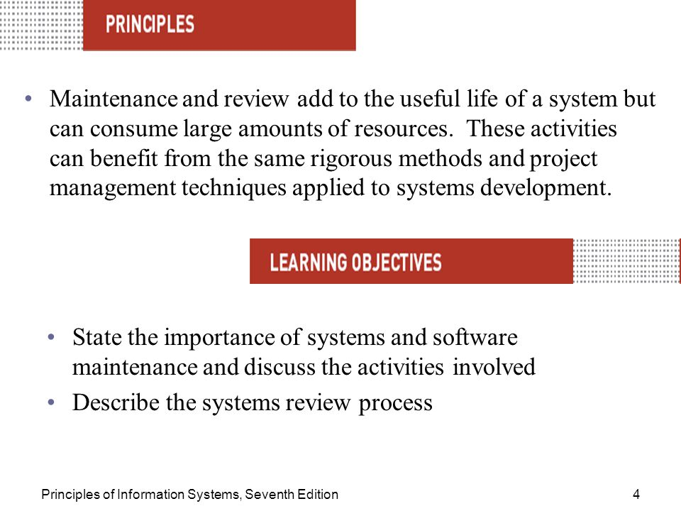 Describe the systems review process