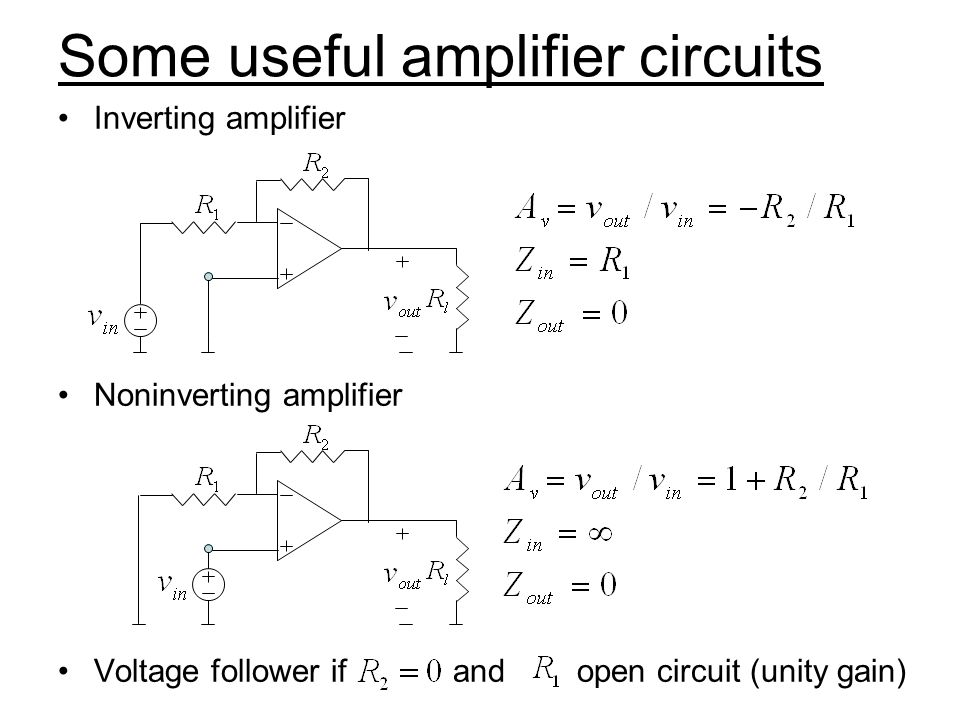 Some useful amplifier circuits