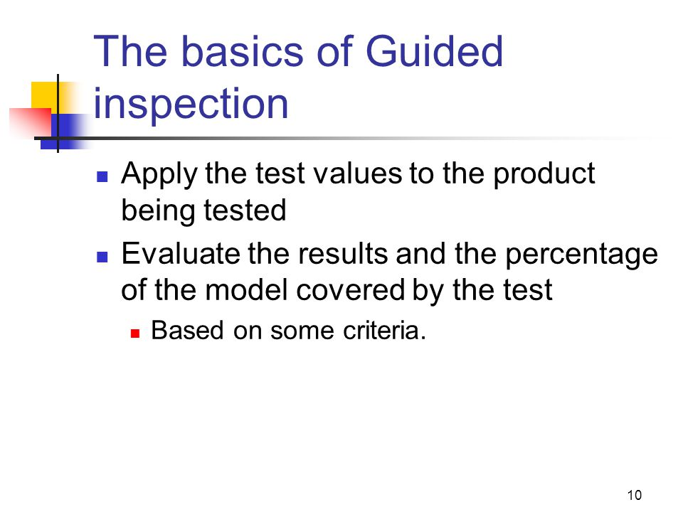 The basics of Guided inspection