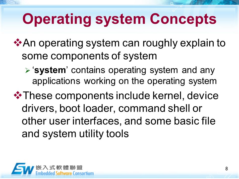 components of an operating system Students will learn how install, configure, troubleshoot, update and uninstall  various operating systems and its components these skills are expected from  any.