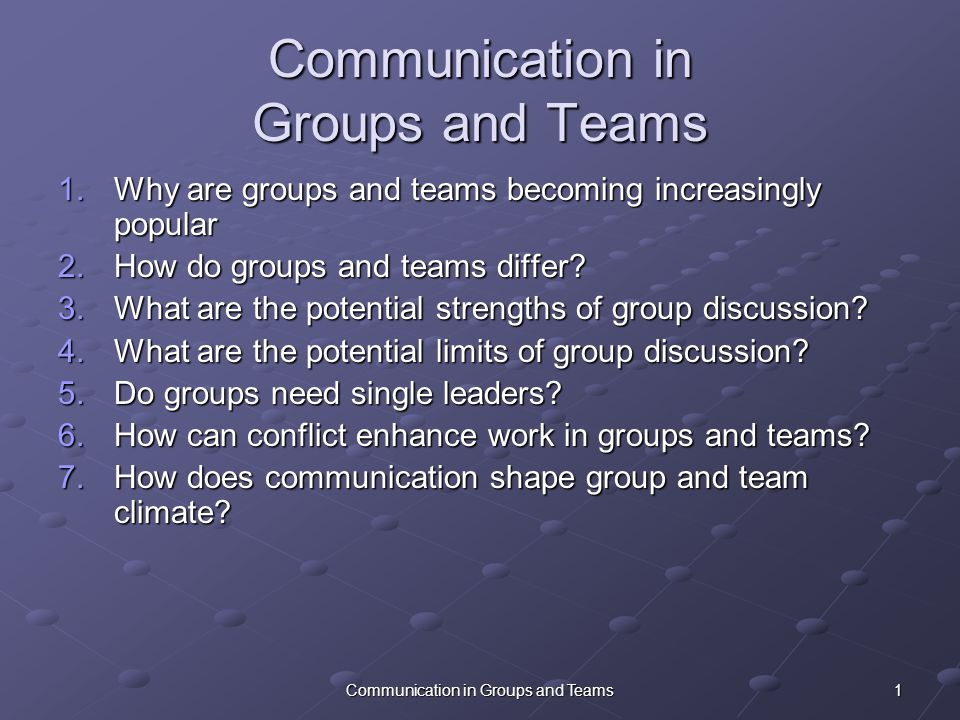 communication in teams and groups Free communication team building activities free communication team building tasks these dream trips are then shared with the group as a whole.