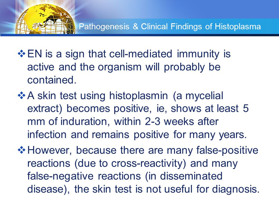 Pathogenesis & Clinical Findings of Histoplasma