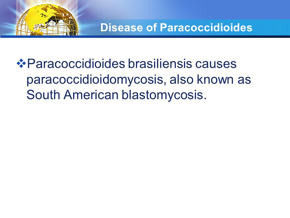 Disease of Paracoccidioides