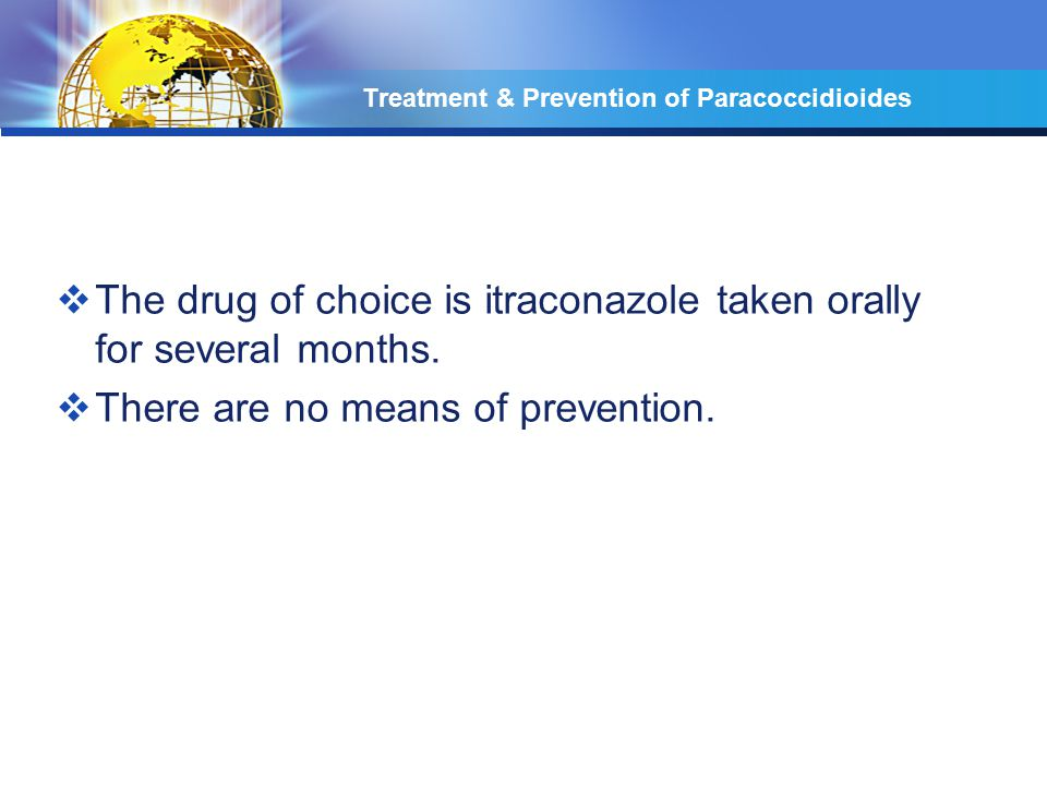 Treatment & Prevention of Paracoccidioides
