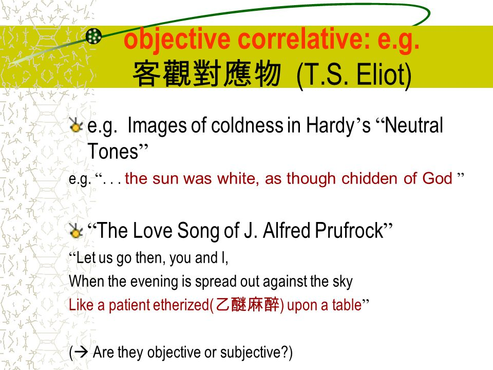 t s eliot and the objective correlative