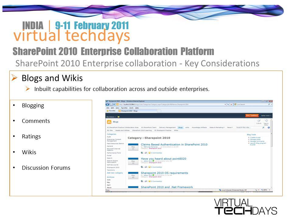 virtual techdays INDIA │ 9-11 February 2011