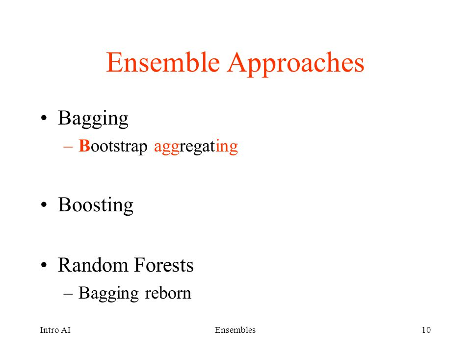 Ensemble Approaches Bagging Boosting Random Forests
