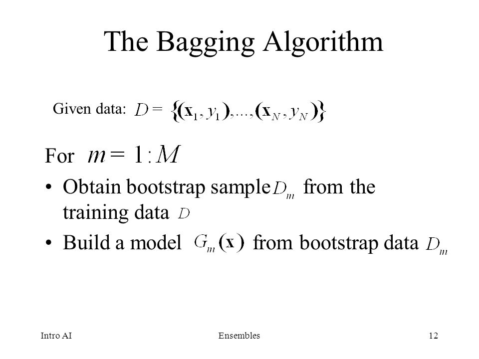 The Bagging Algorithm For