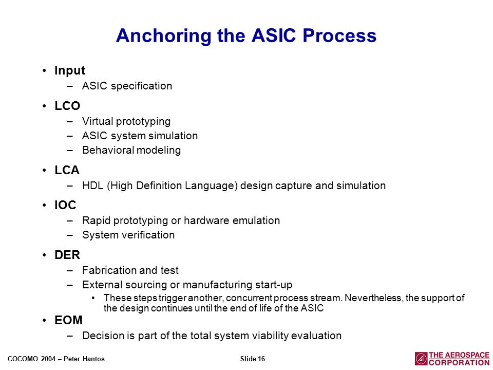 Asic design review process