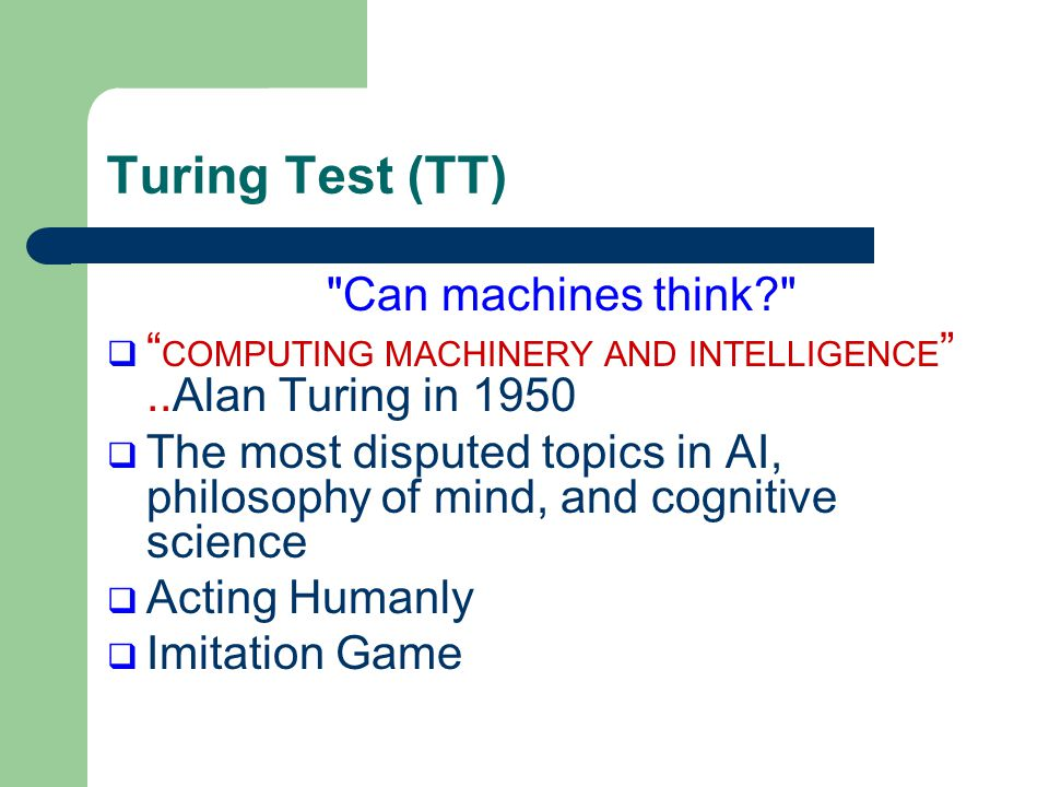 an examination of the imitation game or computing machinery and intelligence A benedict cumberbatch starrer, 'the imitation game' focused on  was a  princeton faculty at the time that turing was studying there this  in 1950,  turing published a paper entitled 'computing machinery and intelligence',.