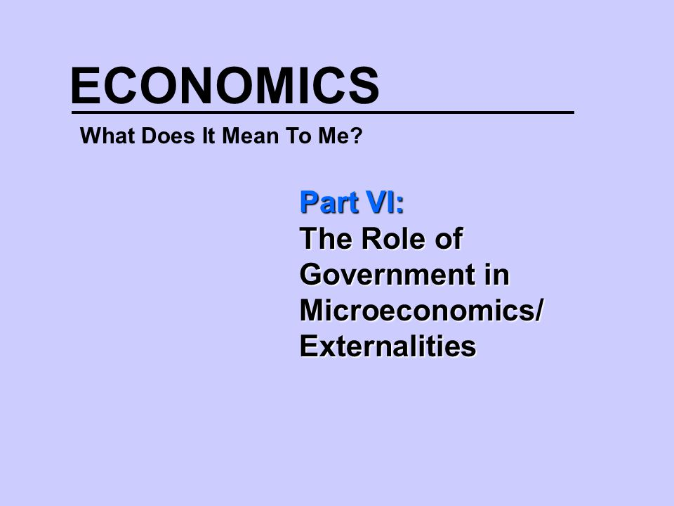 Economics and the role of the