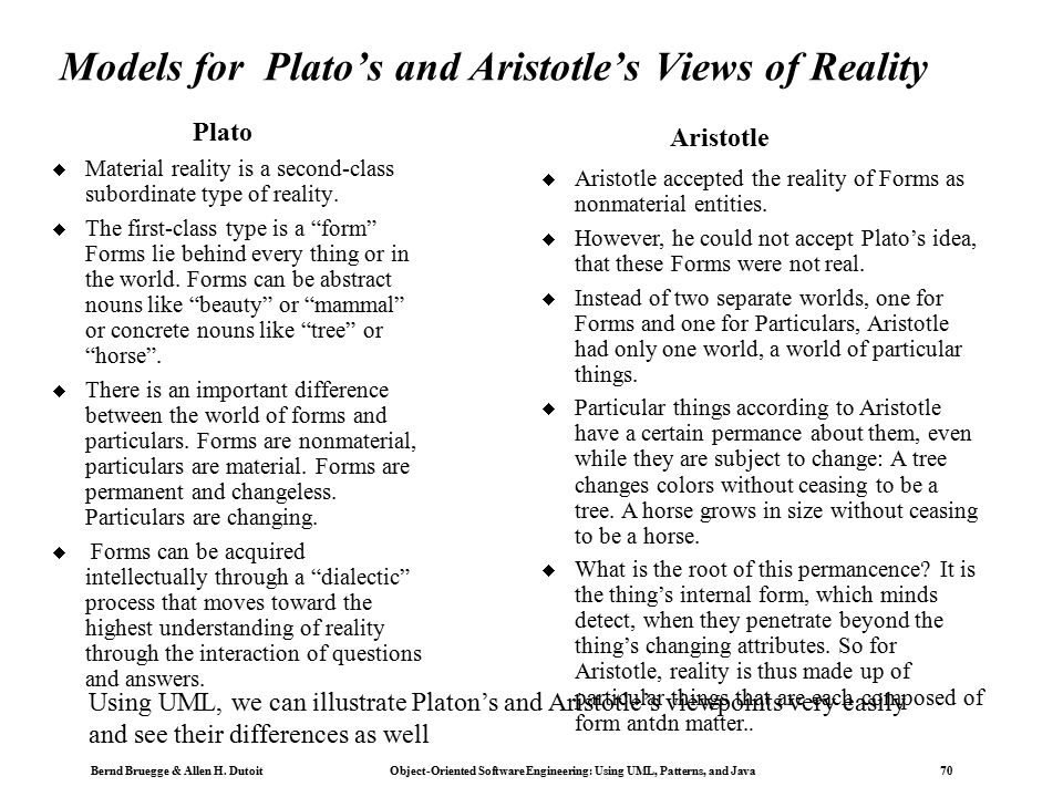 comparison between plato and aristotle