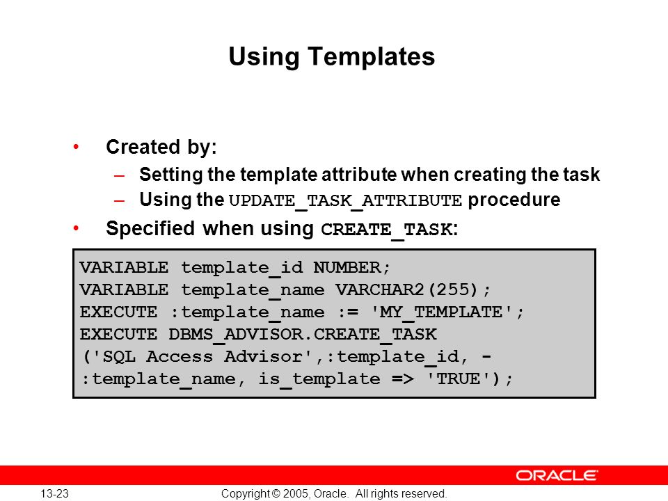 Oracle Database 10g: Implement and Administer a Data Warehouse 13-23