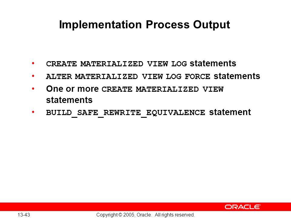 Implementation Process Output