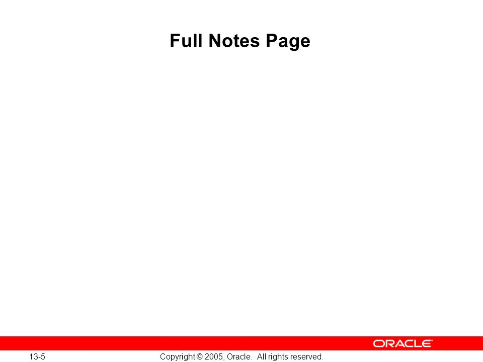 Oracle Database 10g: Implement and Administer a Data Warehouse 13-5