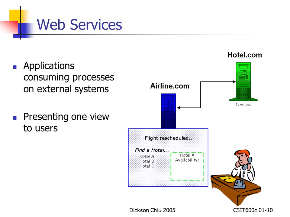 Web Services Applications consuming processes on external systems