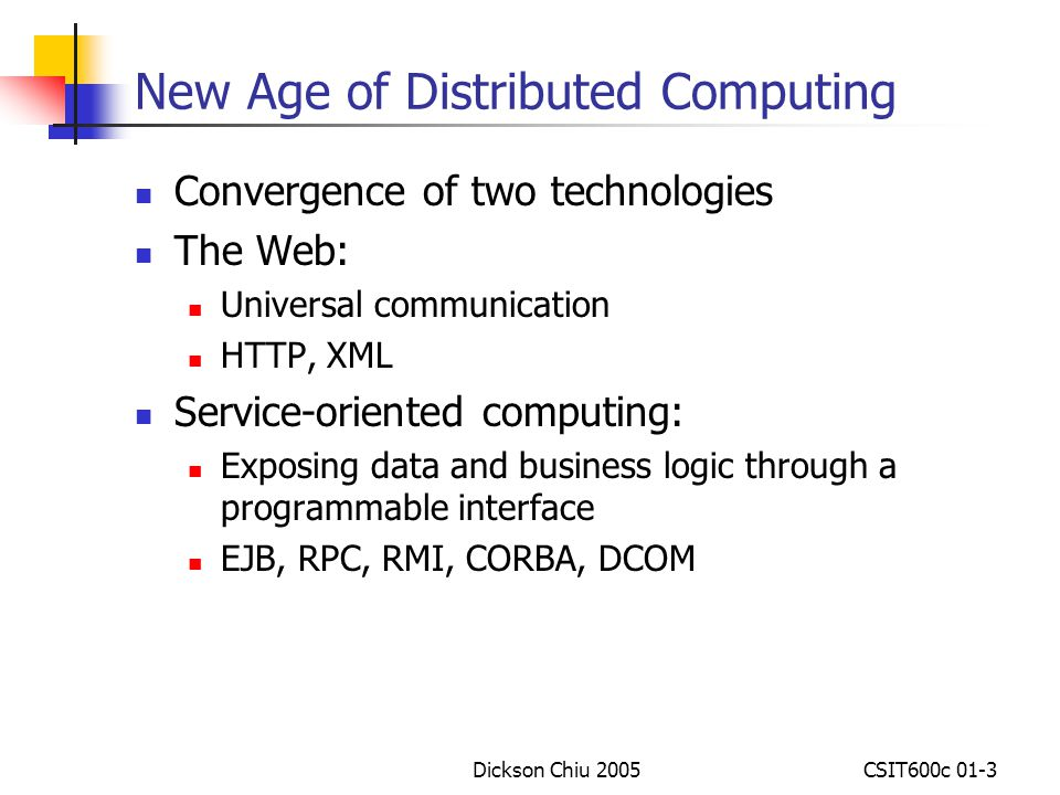 New Age of Distributed Computing