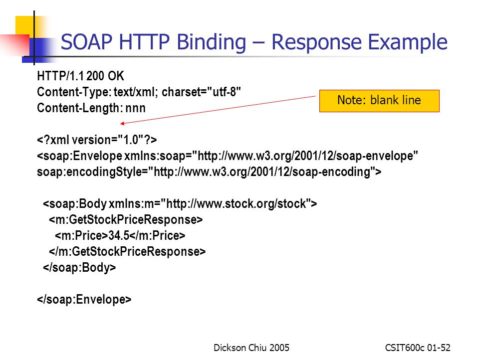 SOAP HTTP Binding – Response Example