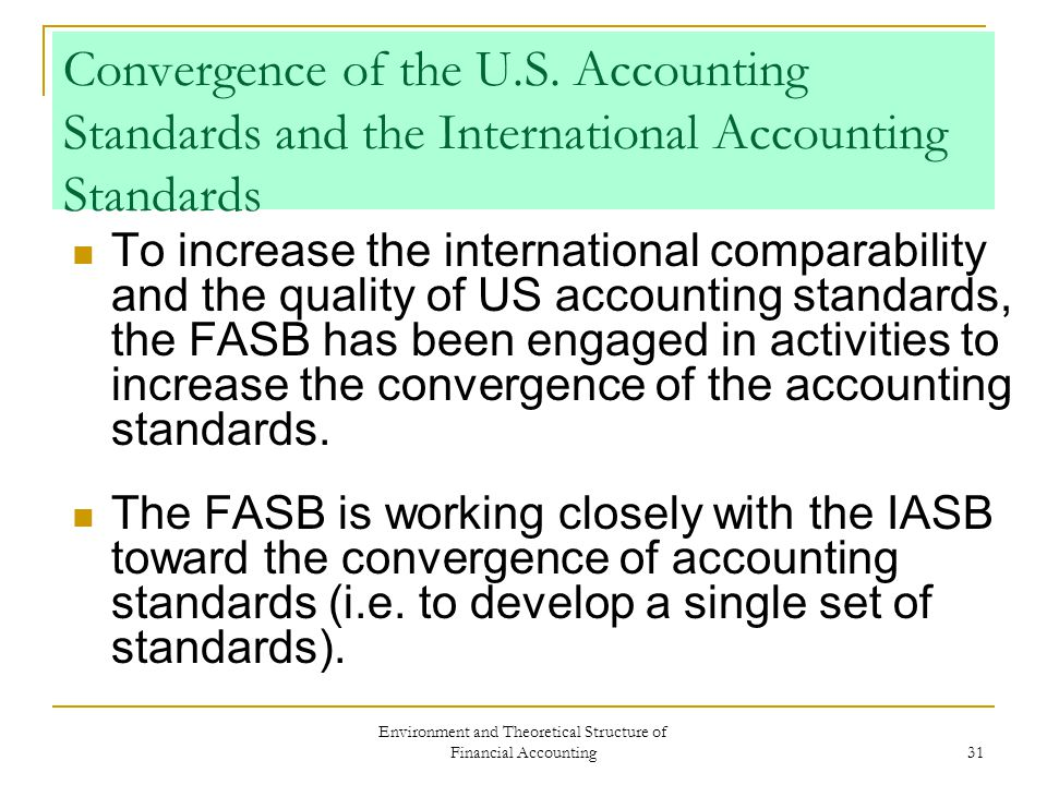 us accounting standards vs international accounting A joint statement was issued this week by the ministry of finance and the ifrs foundation) about convergence of chinese accounting standards (cas) with international financial accounting standards (ifrs) both parties agreed that a single set of high quality global accounting standards is a good idea.
