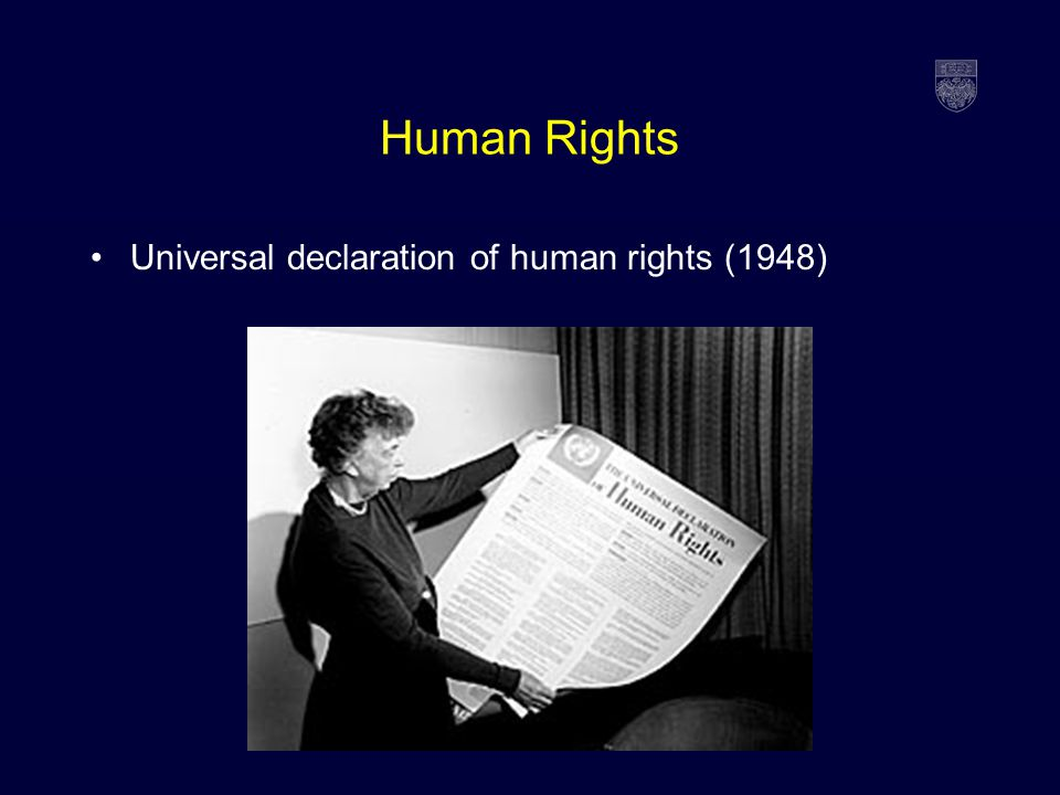 Epidemics: When Public Health and Human Rights Collide ... Universal Declaration Of Human Rights 1948