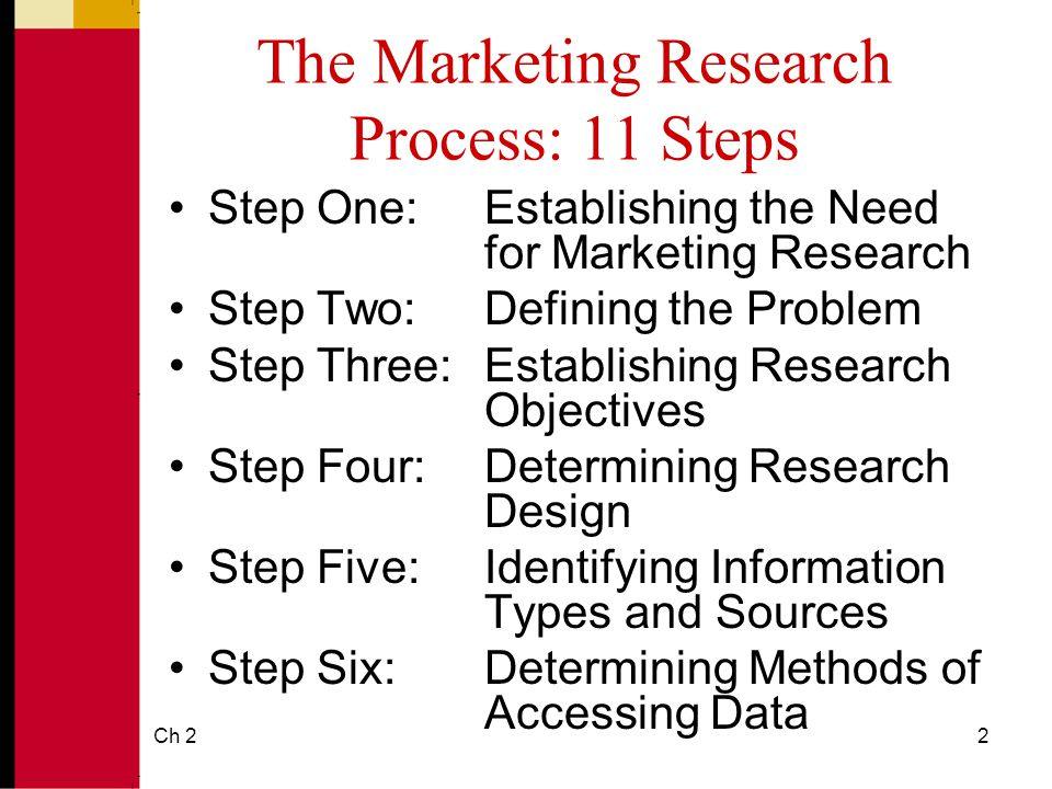 five step marketing research approach Marketing research is the same as market research learn the difference between the two and the steps involved in marketing and market research  approach that can.
