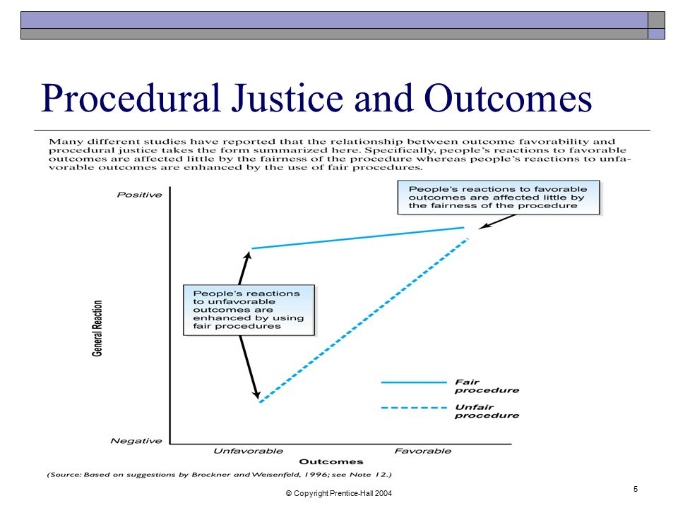 Procedural Justice and Outcomes