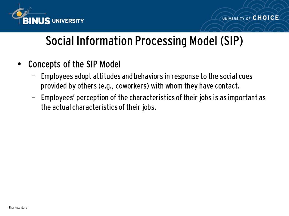 Social Information Processing Model (SIP)