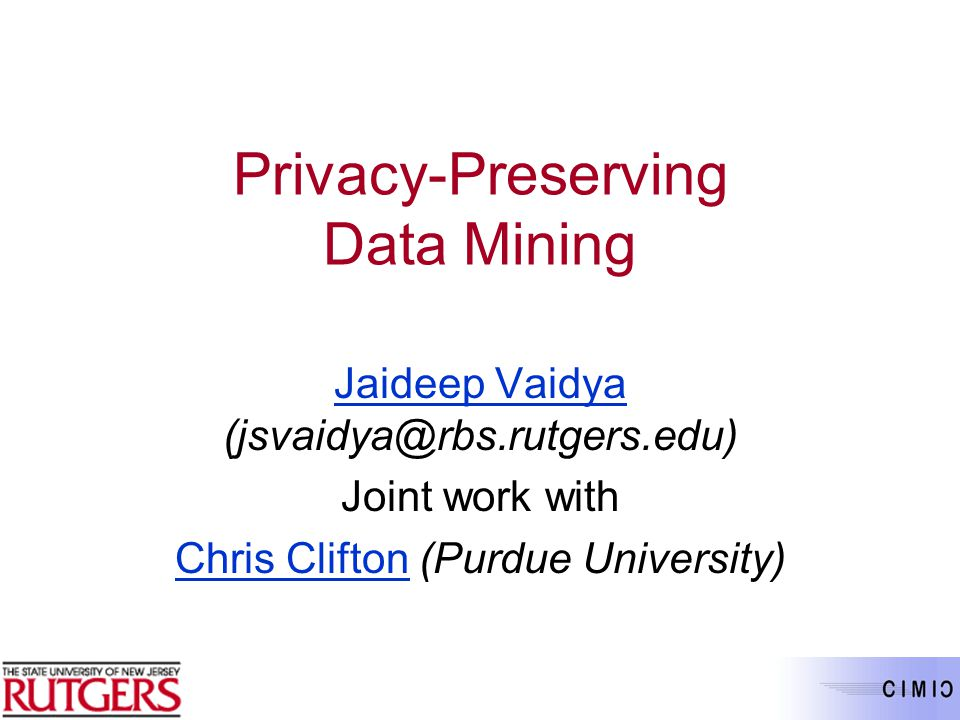 privacy preserving data mining thesis