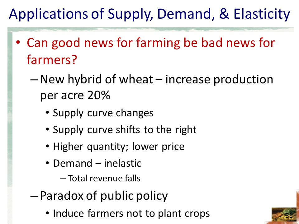 the inelastic price demand for wheat Demand system has suggested that with increase in food price inflation, the  demand for staple food (rice,  elasticity for wheat may be (negative but) very  low in.