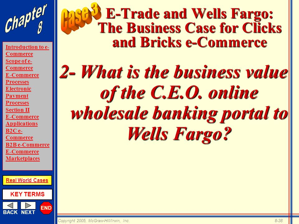 case e trade and wells fargo the business case for clicks and bricks e commerce The occ and the new consumer financial protection bureau (cfpb) announced yesterday civil money penalties against capital one bank it's the first enforcement.