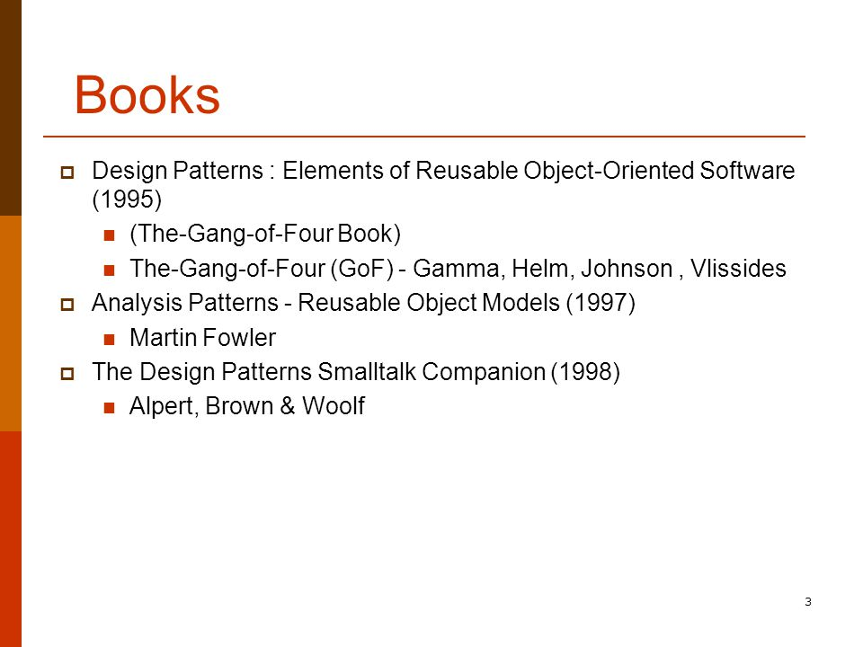 The Gang Of Four Design Patterns Book