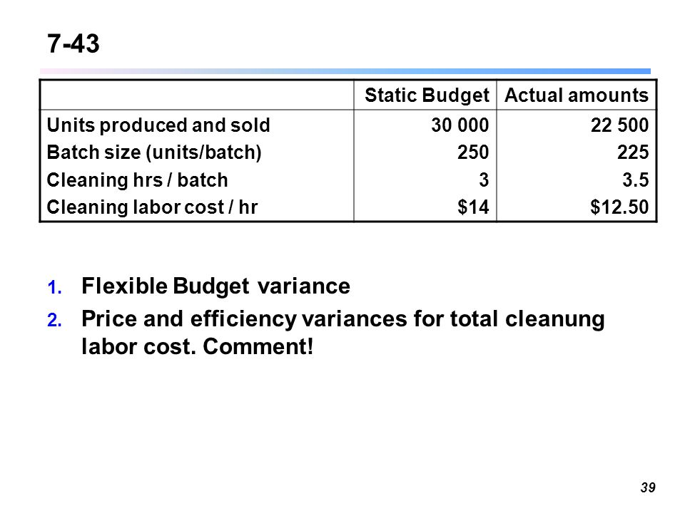 chapter 7 flexible budget Flexible budgets, variances, and management control: i chapter 7 7 - 2 ©2003  prentice  a static budget from a flexible budget learning objective 1 7 - 3.