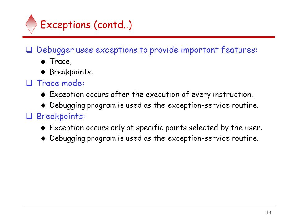 Exceptions (contd..)