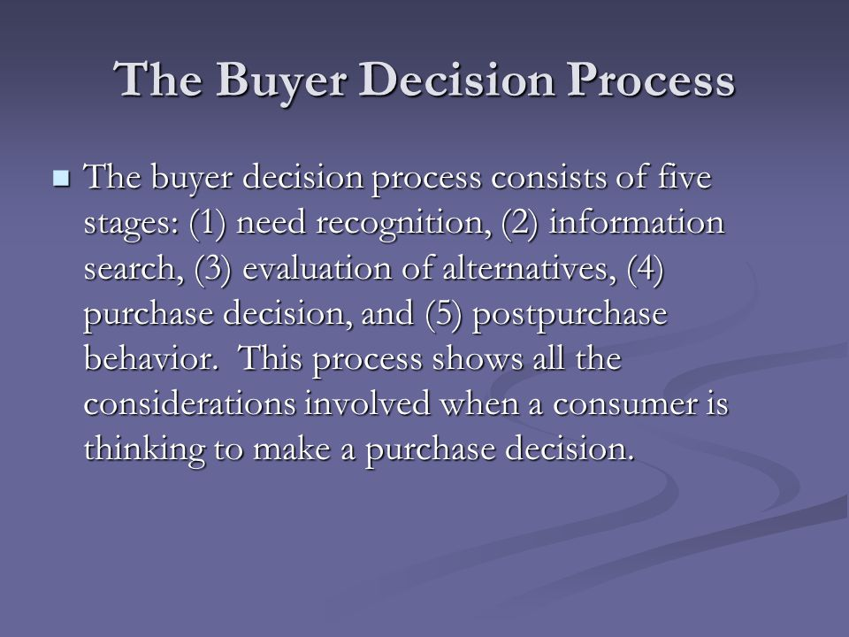 stages in the decision process buyer The 5 stages of the buyer's decision making process & how to utilise it  written by sean mcpheat   13 december, 2016 how do you make a decision.