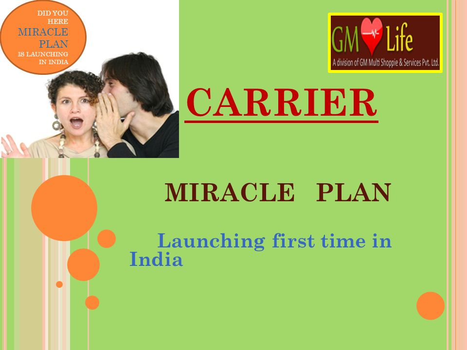 MIRACLE PLAN Launching first time in India