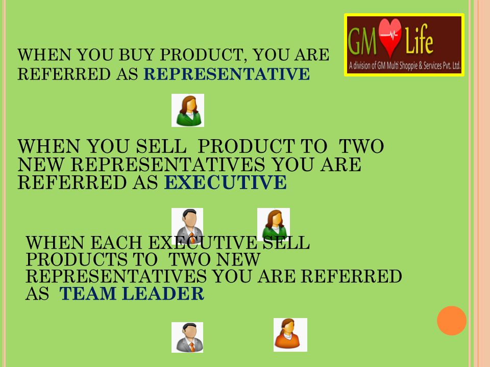WHEN YOU BUY PRODUCT, YOU ARE REFERRED AS REPRESENTATIVE